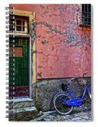 Blue Bicycle Monterosso Italy Dsc02592  Spiral Notebook