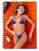 Blue Bikini 16-2p Spiral Notebook