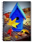 Blue Bird House Spiral Notebook