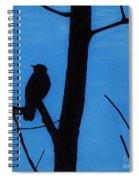 Blue - Silhouette - Bird Spiral Notebook