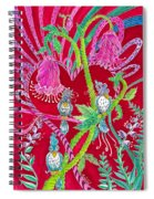 Blue Bird Trio And Heart Spiral Notebook