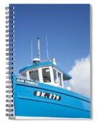 Blue Boat Blue Sky Spiral Notebook