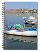 Blue Boat In Sozopol Harbour Spiral Notebook