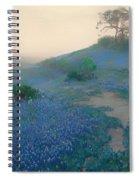Blue Bonnet Field In San Antonio Spiral Notebook