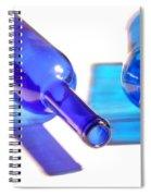 Blue Bottles Spiral Notebook