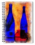 Blue Bottles Photo Art Spiral Notebook