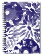 Blue Bouquet- Contemporary Abstract Floral Art Spiral Notebook