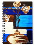 Blue Buds Floral Spiral Notebook