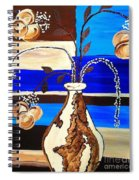 Blue Buds Multi Floral Spiral Notebook