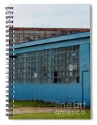 Blue Building In Delaware Ohio Spiral Notebook