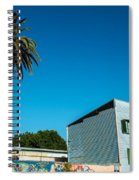 Blue Building In Historic Neighborhood Spiral Notebook