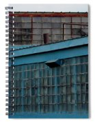 Blue Building Windows Spiral Notebook