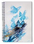 Blue Butterflies Spiral Notebook