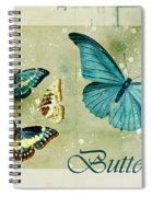 Blue Butterfly - S55c01 Spiral Notebook