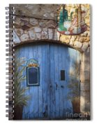 Blue Cafe Doors Spiral Notebook