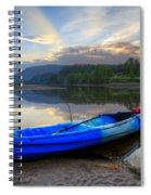 Blue Canoe At Sunset Spiral Notebook