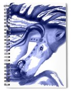 Blue Carrousel Horse Spiral Notebook