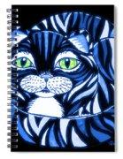 Blue Cat Green Eyes Spiral Notebook