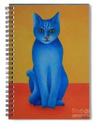Blue Cat Spiral Notebook