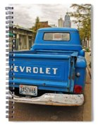 Blue Chevy Tailgate Spiral Notebook