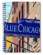 Blue Chicago Club Spiral Notebook