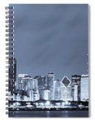 Blue Chicago Skyline Spiral Notebook