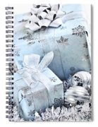 Blue Christmas Gift Boxes Spiral Notebook
