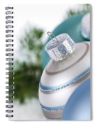 Blue Christmas Ornaments Spiral Notebook