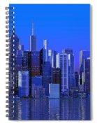 Chicago Blue City Spiral Notebook