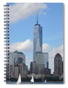 Blue City Skyline Spiral Notebook