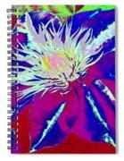 Blue Clematis Spiral Notebook