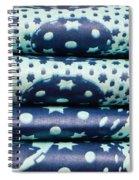 Blue Cloth Spiral Notebook