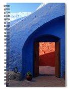 Blue Courtyard Spiral Notebook