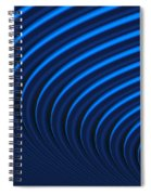 Blue Curves Spiral Notebook