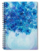 Blue Delphiniums Spiral Notebook