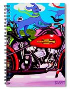 Blue Dogs On Motorcycles - Dawgs On Hawgs Spiral Notebook