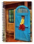 Blue Door And Peppers Spiral Notebook
