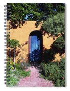 Blue Door At Old Mesilla Spiral Notebook