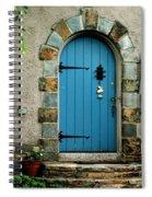 Blue Door In Baltimore Spiral Notebook