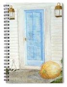 Blue Door With Pumpkin Spiral Notebook