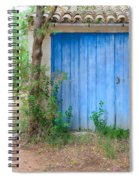 Blue Doors And Yellow Flowers Spiral Notebook