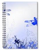 Blue Dragonfly Art Spiral Notebook