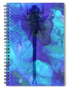 Blue Dragonfly By Sharon Cummings Spiral Notebook
