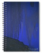 Blue Drip Spiral Notebook