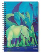 Blue Elephants Spiral Notebook