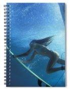 Blue Embrace Spiral Notebook