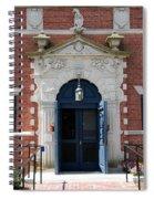 Blue Entrance Door Spiral Notebook