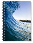 Blue Envelope  -  Part 1 Of 3 Spiral Notebook