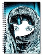 Blue Eye Lady Spiral Notebook