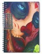 Blue Eyed Skull Spiral Notebook